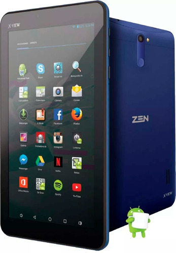 tablet x-view zen 3g  8gb  cam 5.0/2.0 mp gps funda teclado
