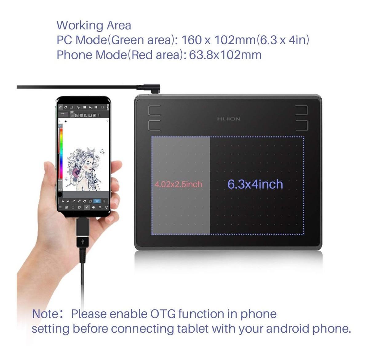 Tableta 6 X4'' Diseño Grafico Arquitectur Huion Hs64