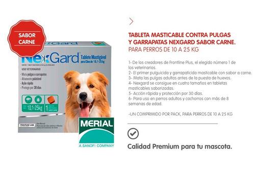 tableta antipulgas antigarrapatas sarna nex gard 10/25kg