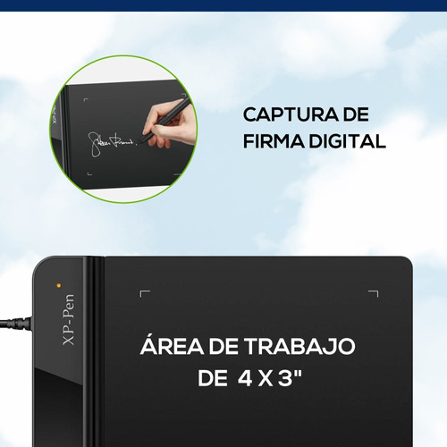 tableta digitalizadora grafica xp pen g430s usb pce