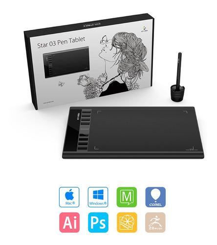 tableta digitalizadora xp pen star 03 lapiz win mac