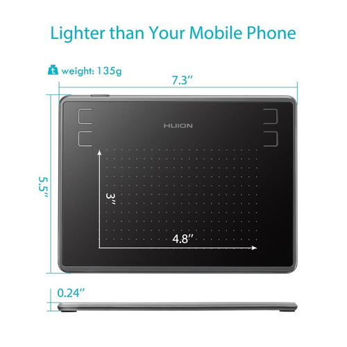 tableta grafica de dibujo huion h430p osu! + guante original