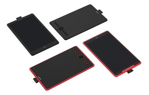 tableta grafica dibujo huion h320m rojo + guante + envio