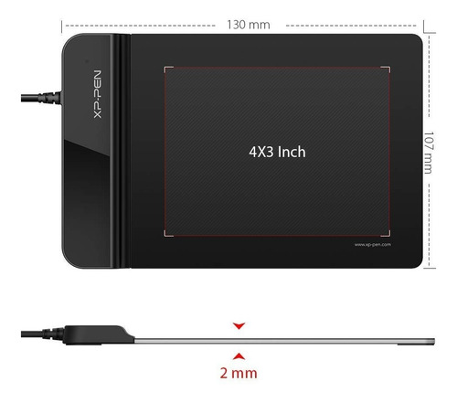 tableta grafica digitalizadora xp pen g430s 4x3 pulg 2