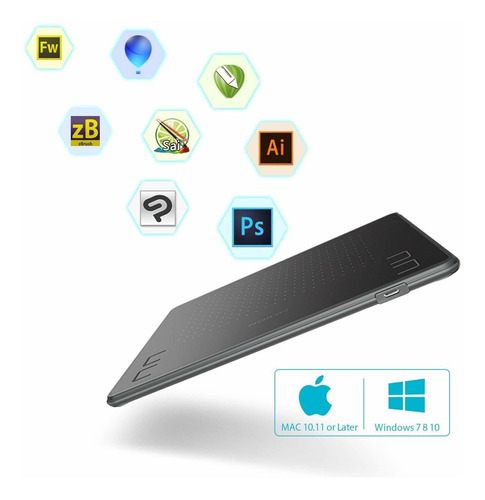 tableta gráfica huion h430p con sensibilidad a presión 4096