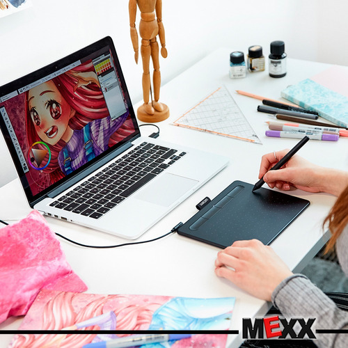 tableta gráfica wacom intuos basic pen small draw mexx