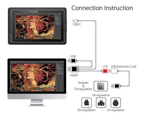 tableta grafica xp pen artist 15.6 pulgadas profesional 3