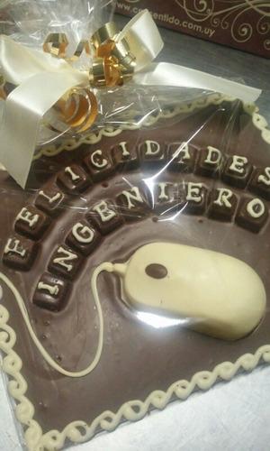 tableta mouse y teclas de chocolate consentido