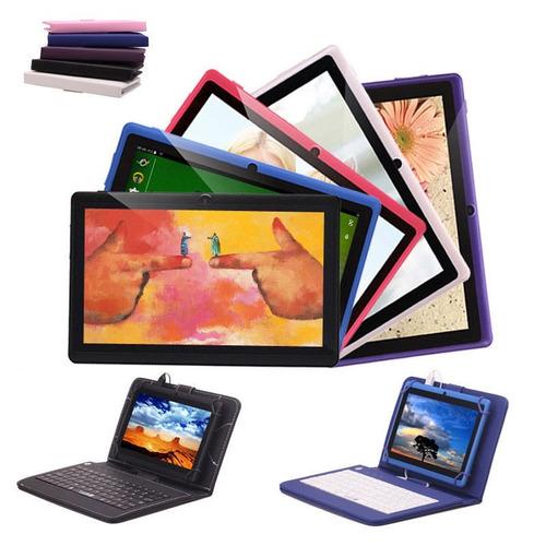 tabletas irulu 7 - 8gb - quad core - doble camaras + teclado
