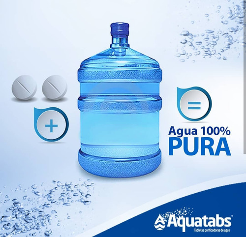 tabletas purificadoras puritabs 17mg de aquatabs. rinde 100l