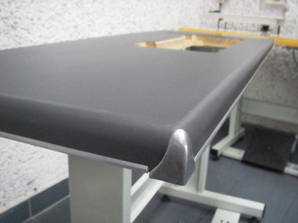 Tablon en vinil para maquina de coser mesa industrial for Muebles industriales baratos