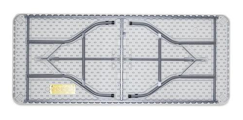 tablon reforzado mesa doblable 180x75x74cm plastico polietil
