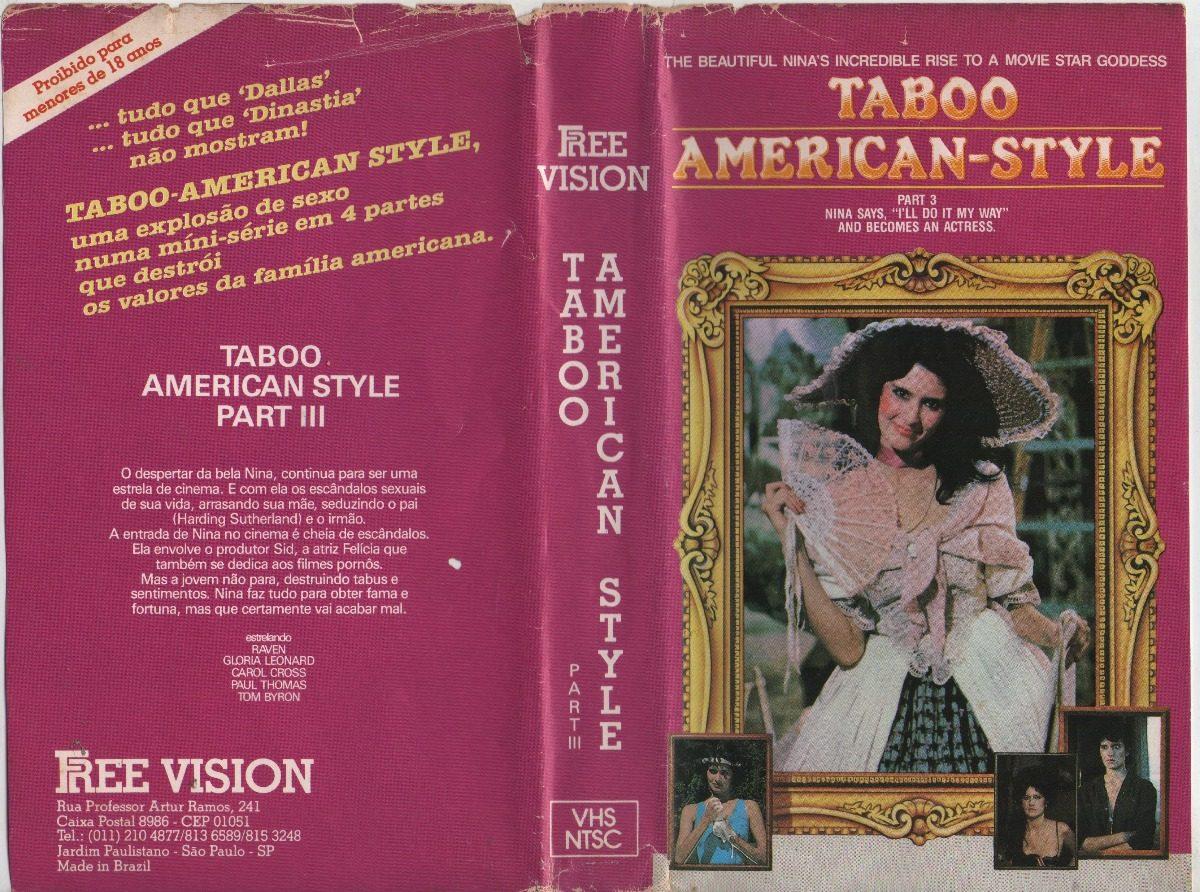 American Taboo Movie taboo american style 1 2 3 e 4 - 4 vol raro - unitario