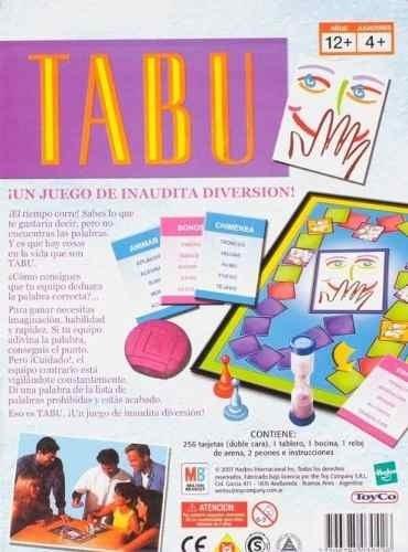 Tabu Juego De Mesa De Hasbro Zona Sur Lomas 449 99 En