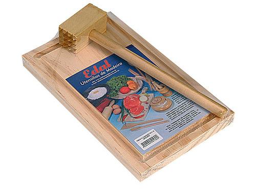 tábua com caneleta 25 x 15 / bate bife (137+132)