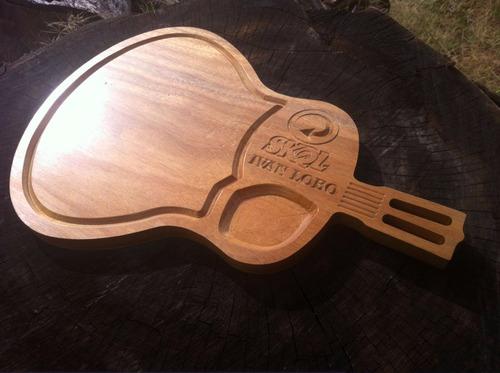 tabua de churrasco carne violão personalizada time logo nome