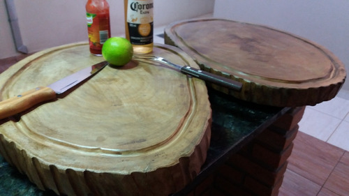 tábua tronco carne churrasco madeira lei grande  luxo