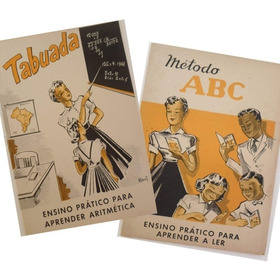 Tabuada E Método Abc (antigos Materiais Escolares Anos 70)
