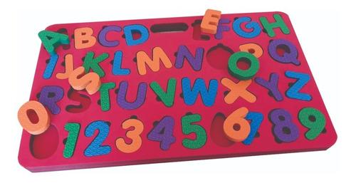 tabuleiro alfabeto encaixe educativo cognitivo promoção
