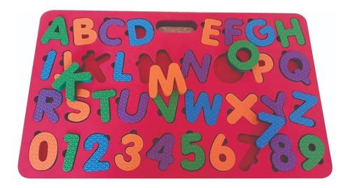 tabuleiro cognitivo alfabeto e números brinquedo educativo