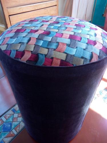 taburete asiento cilindrico, de colores ¡entrega inmediata!