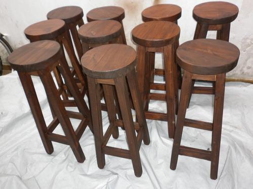 Taburete banco de madera 80 bar barra sin pintar al for Bancos de bar de madera