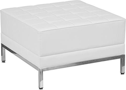 taburete de piel blanco importado flash furniture hercules