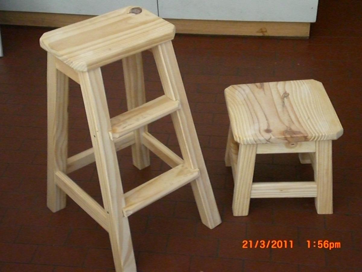 taburete o banqueta de madera 75 cm - $ 780,00 en mercado libre