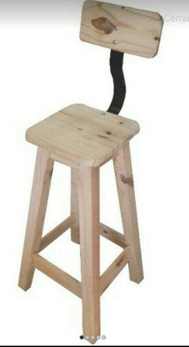 taburete pino madera macizo banqueta banco silla alta