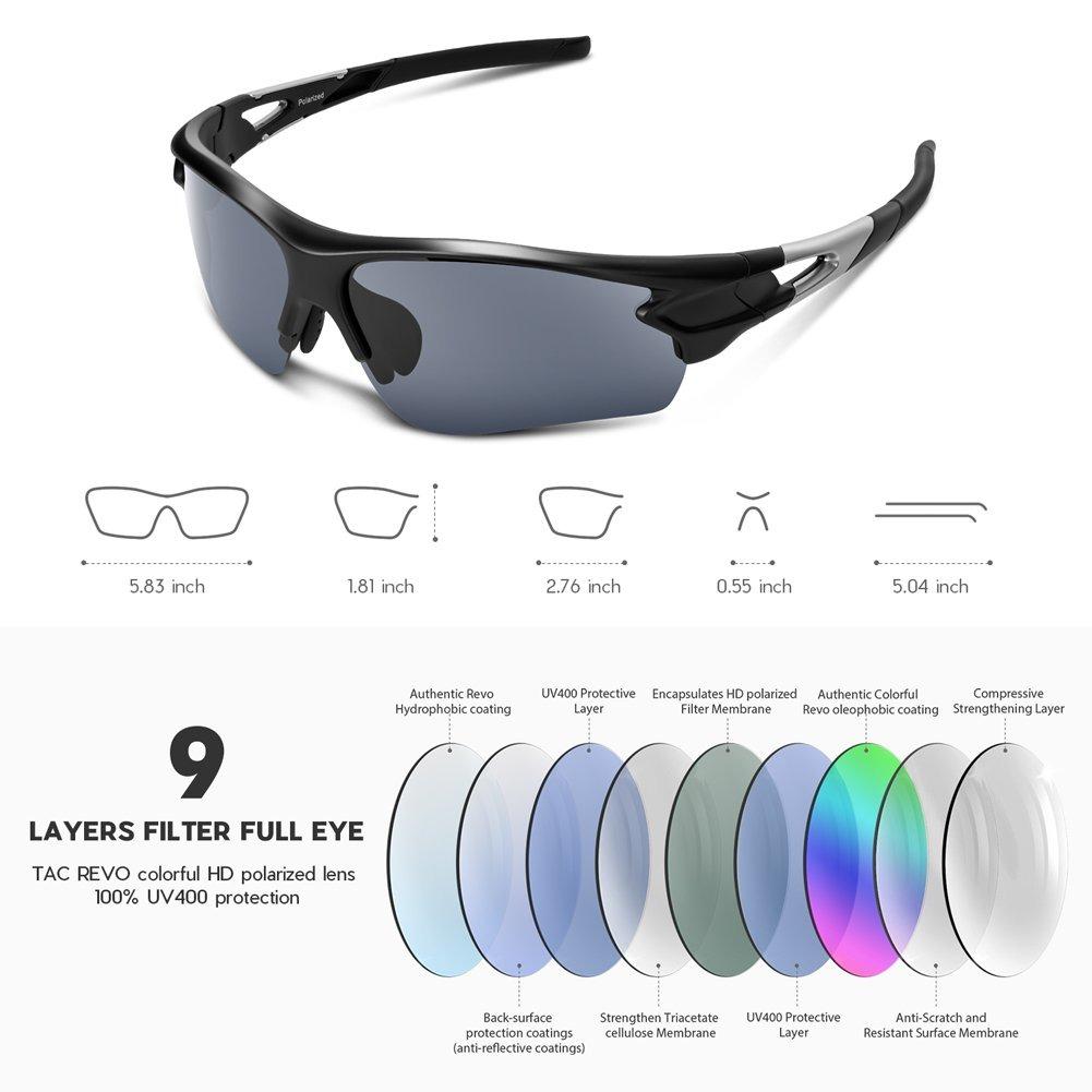 tac polarizadas anteojos de sol deportivas para hombres m. Cargando zoom. 040d49ec71