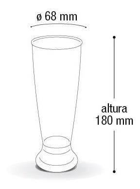 taça copo 300 ml acrílico para chopp vinho cerveja 6 pçs