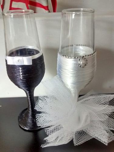 taça decorada para casamento