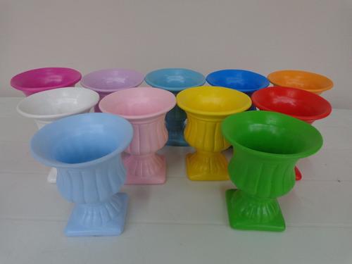 taça / vaso grega em cerâmica decoração / festas 12x10cm
