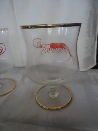 taças cristal/ vidro, coquetel de camarão(preço unitário)