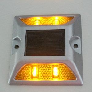 tacha vial led solar autonoma luminosa reflectiva 4 leds