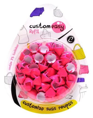tachas de roupas pink fluorescente 9mm 75unid.