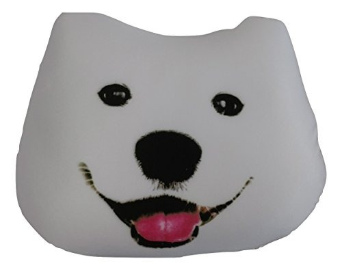 tache lindo del perro de grano micro throw pillow realista,