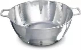 tacho alumínio nº 50 fundido batido grosso polido com tampa