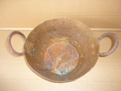 tacho antiguo de cobre en impecable estado sano  consulte- -