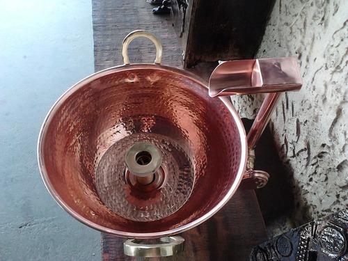 tacho bojo de cobre e torneira de bica  valor cada