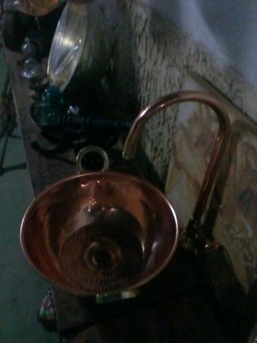 tacho bojo e torneira de cobre