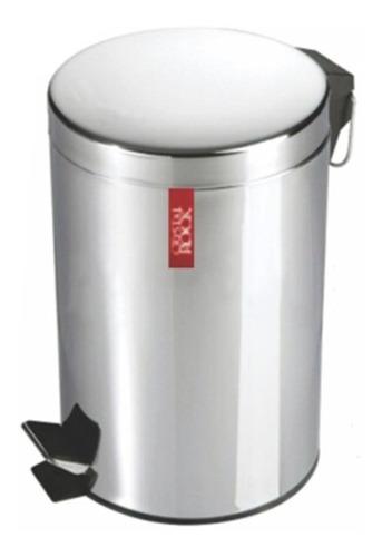 tacho cesto de basura 20 litros residuos acero inoxidable