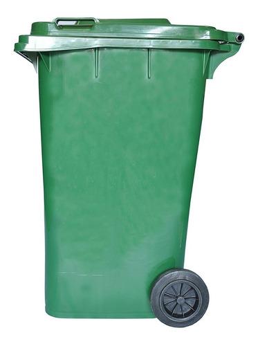 tacho contenedor de basura verde 240 lts residuos