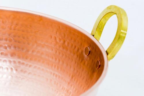 tacho de cobre com alça 15 litros