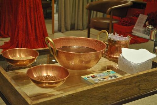 tacho de cobre puro com alças liga de bronze 10 litros