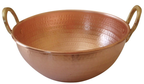 tacho de cobre puro de 15 litro 43cm diâmetro