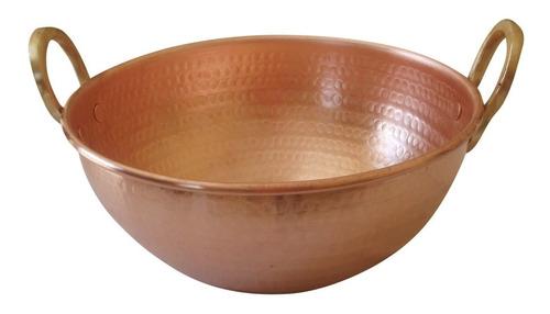 tacho de cobre puro de 25 litro 52cm diâmetro