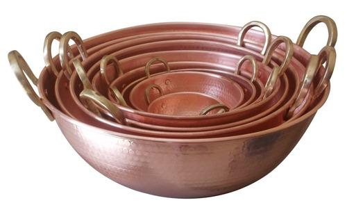 tacho de cobre puro de 30 litros 54cm diâmetro