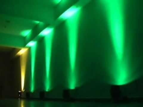 tacho de luces led audioritmico dmx 18w rgb quitoled