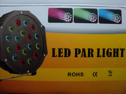tacho led 18w dmx luces audiorítmico escenario eventos